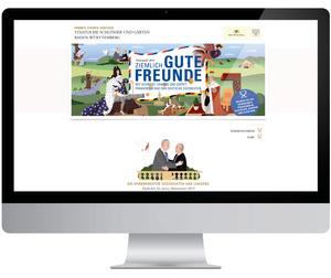 Portal zum Themenjahr (Staatliche Schlösser und Gärten Baden-Württemberg, Designkonzept: www.jungkommunikation.de, Illustration: Laura Breiling)