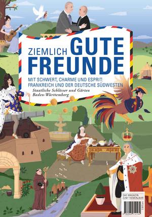 Magazin ziemlich gute Freunde (Staatliche Schlösser und Gärten Baden-Württemberg, Designkonzept: www.jungkommunikation.de, Illustration: Laura Breiling)