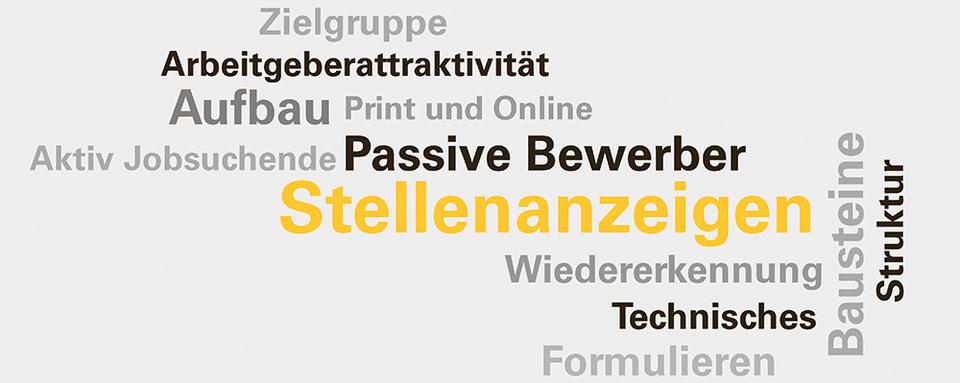 Wordcloud Vertiefungsmodul Stellenanzeigen