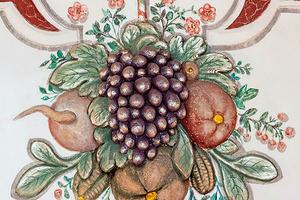 Süße Früchtchen aus der Wanddekoration des Rittersaals im Schloss Weikersheim (Foto: SSG, Günther Bayerl)