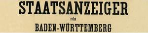 Kopf Staatsanzeiger für Baden-Württemberg