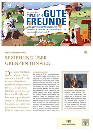 Kurzführer Rastatt (Staatliche Schlösser und Gärten Baden-Württemberg, Designkonzept: www.jungkommunikation.de, Illustration: Laura Breiling)