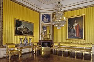 Konferenzzimmer mit Gemälde Friedrichs im Residenzschloss Ludwigsburg (Foto: SSG)