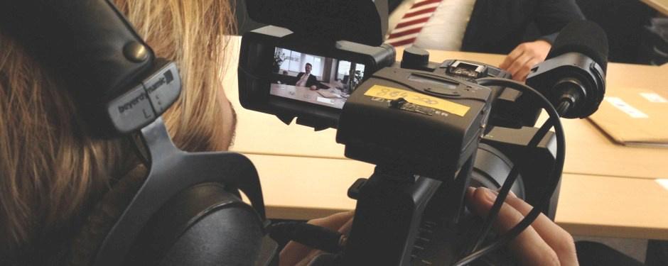 Videodreh zu einem Interview
