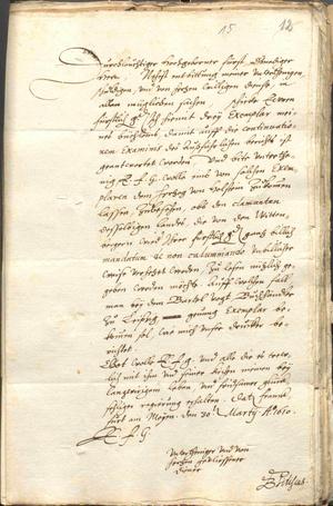 Brief von Bartholomäus Pitiscus (1561–1613) (Foto: Landesarchiv Sachsen-Anhalt, Dessau)