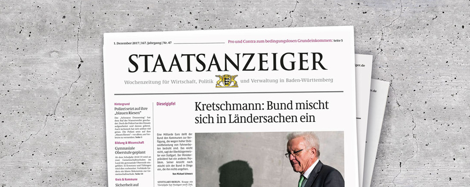 Wochenzeitung Staatsanzeiger für Baden-Württemberg