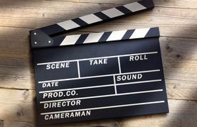 Ansicht einer Filmklappe