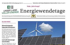 Beilage im Staatsanzeiger zu den Energiewendetagen