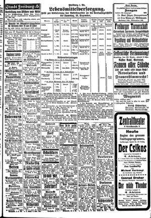 In der Freiburger Zeitung vom 24. Dezember 1918 lud Margarethe Braun zu ihrer überparteilichen Versammlung ein.