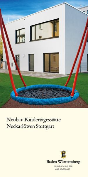 Titelbild Flyer Neubau KiTa Neckarlöwen