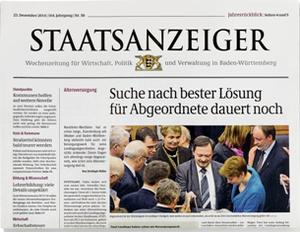 Den Staatsanzeiger im Abo lesen.
