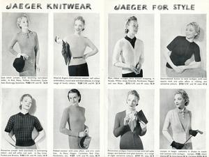 In England vertriebene Jaeger- Modelle für Damen (um 1930)