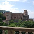 Blick auf Schloss Heidelberg