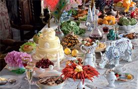 Ein gedeckter Tisch aus der Barockzeit