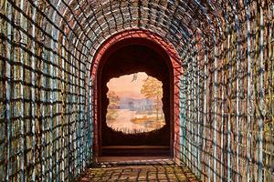 """""""Das Ende der Welt"""", das so genannte Perspektiv, Schlossgarten Schwetzingen (Foto: SSG, Uschi Wetzel)"""