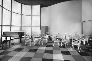 Teesalon von Josef Frank (1885 – 1967), ebenfalls auf der Werkbundausstellung Wien 1930.