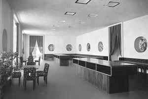 Café, ebenfalls von Josef Hoffmann – wie die Espressobar. Ausstellung des Österreichischen Werkbundes in Wien 1930.