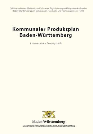 Titel Kommunaler Produktplan Baden-Württemberg