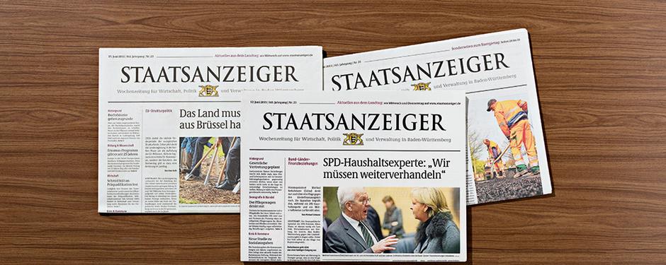 Titelbilder Staatsanzeiger