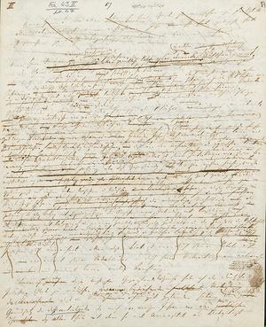 Rede Lists über Zollpolitik, um 1843 (Foto: List-Archiv)