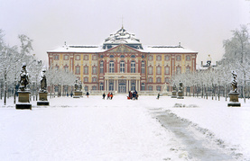Schloss Bruchsal im Schnee
