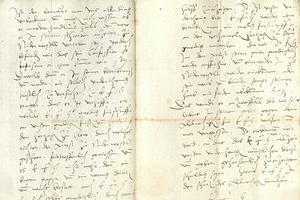 Brief von Johannes Brenz und Jacob Andreae (Foto: Landesarchiv Baden-Württemberg, HStA Stuttgart)