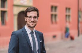 Oberbürgermeister Martin Horn aus Freiburg im Breisgau beim Symposium
