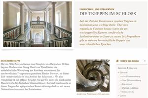 Screen aus der Website zum Thema Treppen