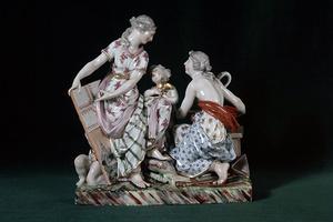 Figurengruppe, Ludwigsburger Porzellan, nach Nicolas Guibal (1770 – 75) (Foto: LMW, Zwietasch/Frankenstein)