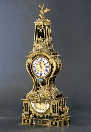 Die prunkvolle Boulle-Uhr steht in Schloss Mannheim
