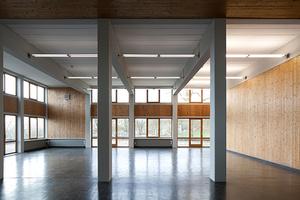 Die Mensa der Hochschule für Gestaltung Ulm, erbaut zwischen 1953 und 1955 nach Plänen von Max Bill. (Foto: Stiftung HfG Ulm, Fotograf: Martin Rudau)