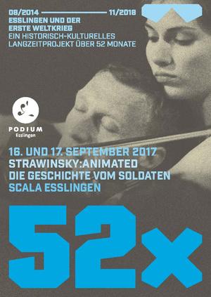 """Genau hundert Jahre, nachdem Igor Strawinsky seine """"Geschichte vom Soldaten"""" für eine kleine Wanderbühne geschrieben hatte, wurde sie in Esslingen in Kooperation mit dem PODIUM Esslingen zeitgemäß aufgeführt."""