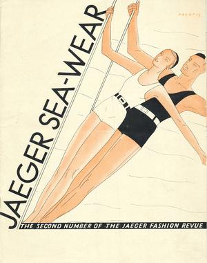 """Titelseite der """"Jaeger Fashion Revue"""", ein Kundenkatalog aus den 1930er-Jahren."""