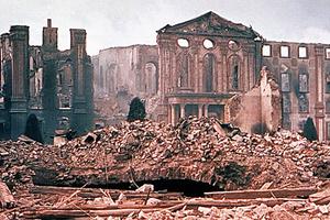 zerstörtes Schloss Bruchsal (Foto: LMZ)