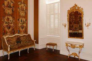 Schloss Bruchsal: exotische Motive im Musikzimmer (Foto: SSG, Dirk Altenkirch)