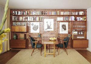 Wohn-Esszimmer der 1960er-Jahre