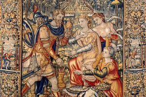 Wertvoller Teppich mit Szenen aus dem Alten Testament (Foto: SSG, LMZ, Weischer)