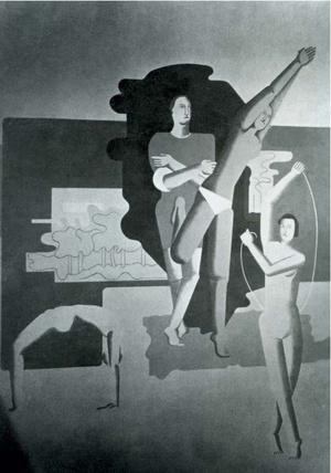 Fotografie des Baumeister-Wandbildes