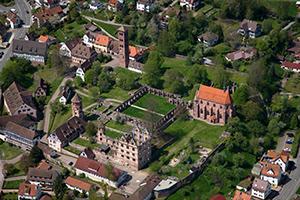Blick auf die Klosterruinen in Hirsau
