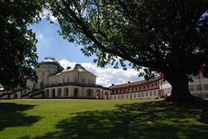 Blick auf Schloss Solitude