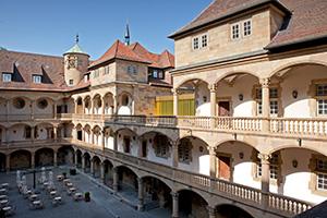 Der Arkadenhof des Alten Schlosses in Stuttgart