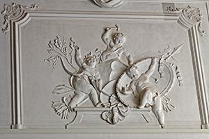 Stuckdetail von Paul Egell in Schloss Mannheim