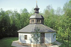 Die auch als Magdalenenklause bezeichnete Eremitage im Favoriter Schlosspark (Foto: SSG/LMZ, A. Rachele)