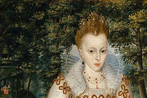 Elizabeth Stuart (1596-1662), Gemälde von Robert Peake d. Älteren, 1603