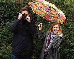 Bastian Ehlers und Katharina Würfel haben drei Monate Praktikum beim Staatsanzeiger gemacht. Foto: Staatsanzeiger